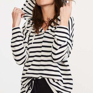 NWT Lou & Grey Striped V-Neck Hoodie Top